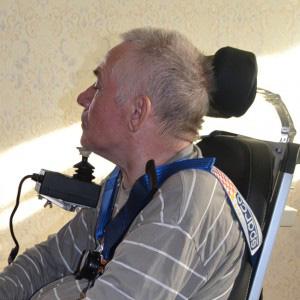 Управление подбородком инвалидной коляской