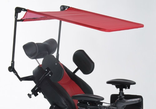 Sun and rain roof for wheelchair